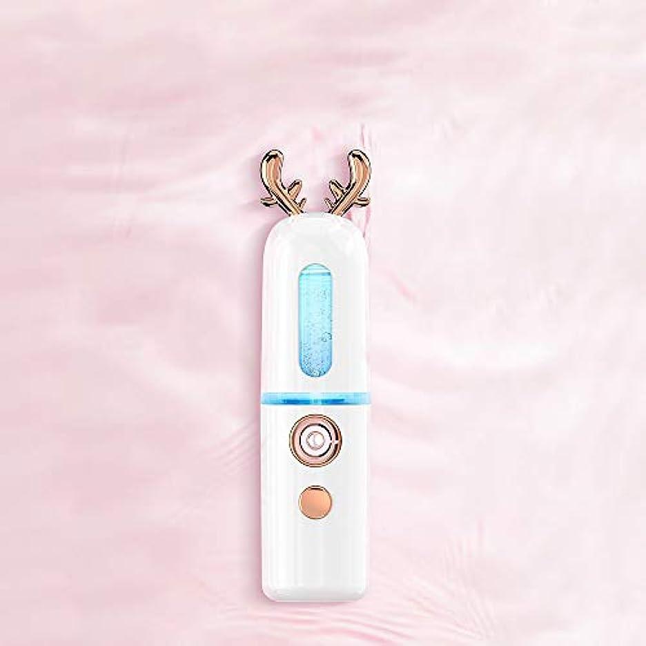 ソーセージ審判間違っているZXF ナノスプレーハイドレイティング機器アントラー蒸し顔コールドスプレー美容機器ポータブル保湿フェイシャルフェイシャル加湿ホワイト 滑らかである