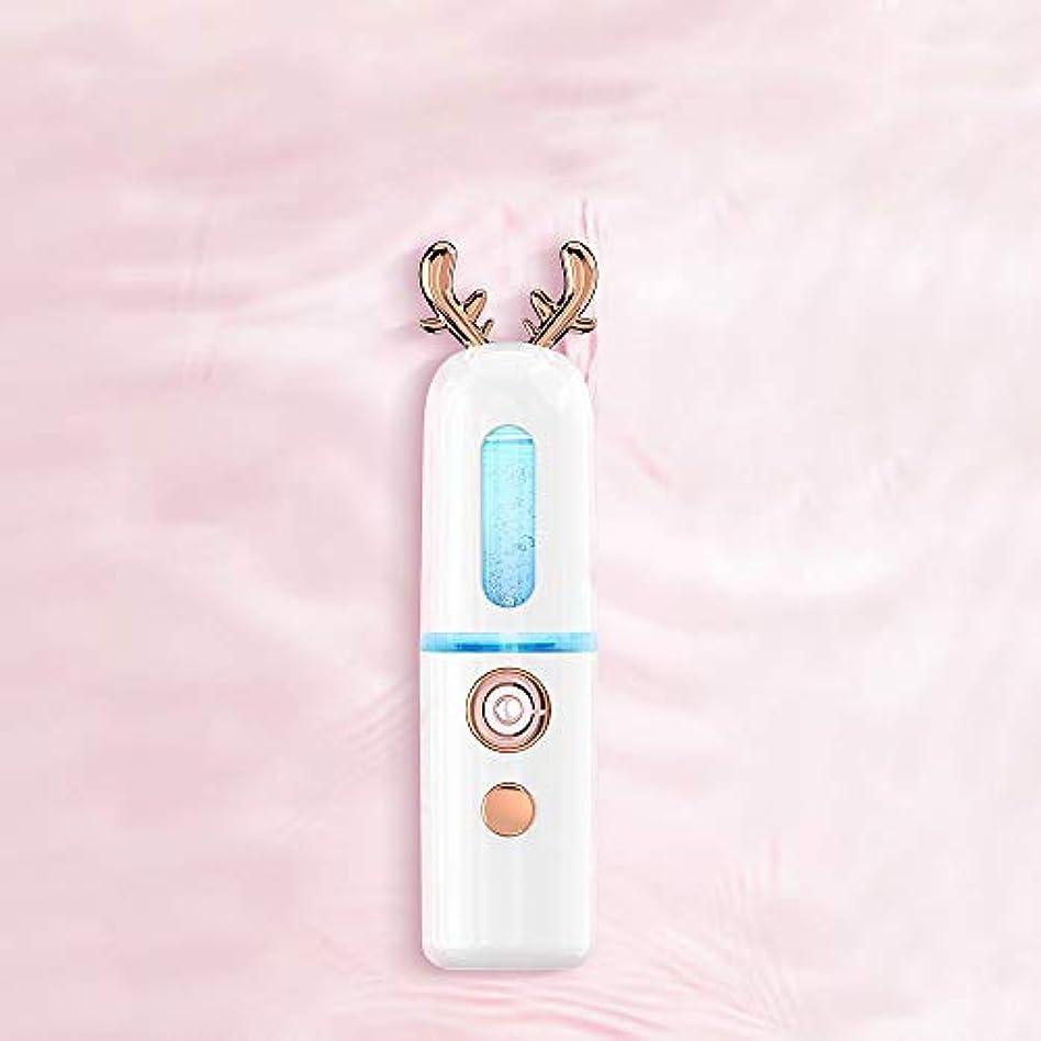 議題評価する食べるZXF ナノスプレーハイドレイティング機器アントラー蒸し顔コールドスプレー美容機器ポータブル保湿フェイシャルフェイシャル加湿ホワイト 滑らかである