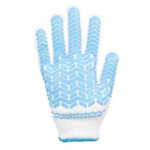 勝星産業 すべり止め加工手袋 ゴムライナー #003 ブルー L 12双入