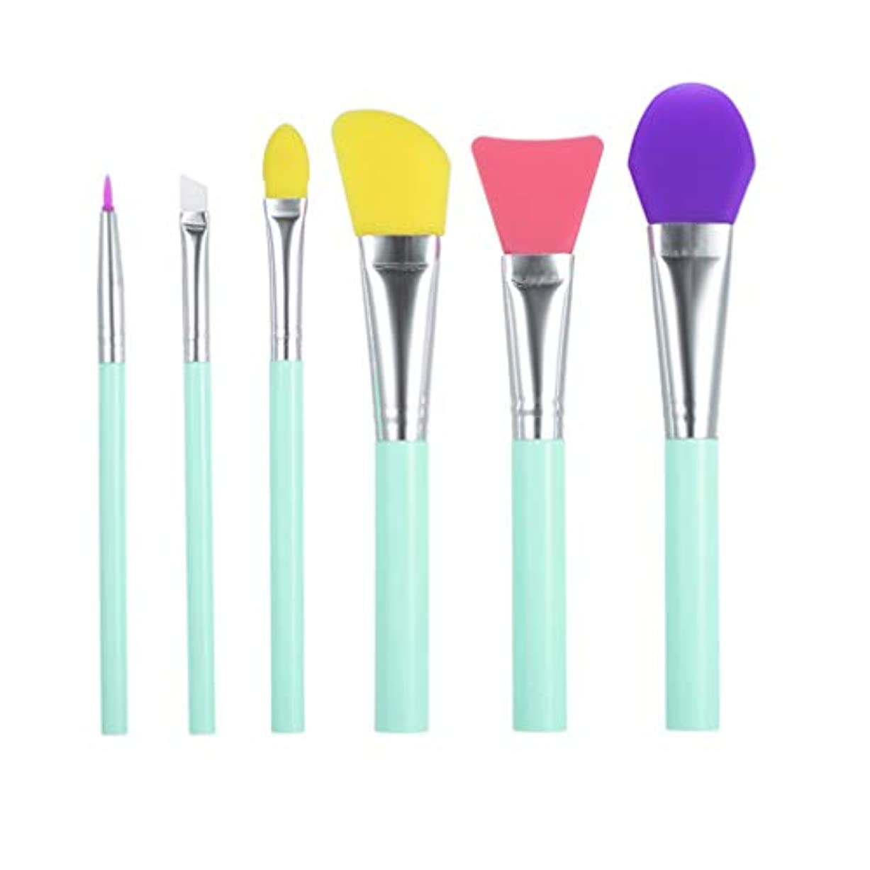 酒社員ピジンLurrose 6 Pieces Silicone Facial Mask Brush Silicone Face Applicator Brush For Face Mask Application Or DIY Mask...