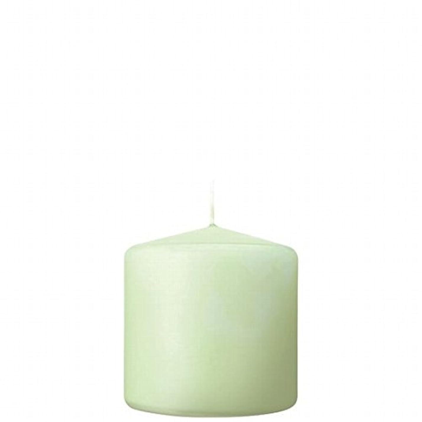 紫の不快な叙情的なカメヤマキャンドル( kameyama candle ) 3×3ベルトップピラーキャンドル 「 ホワイトグリーン 」