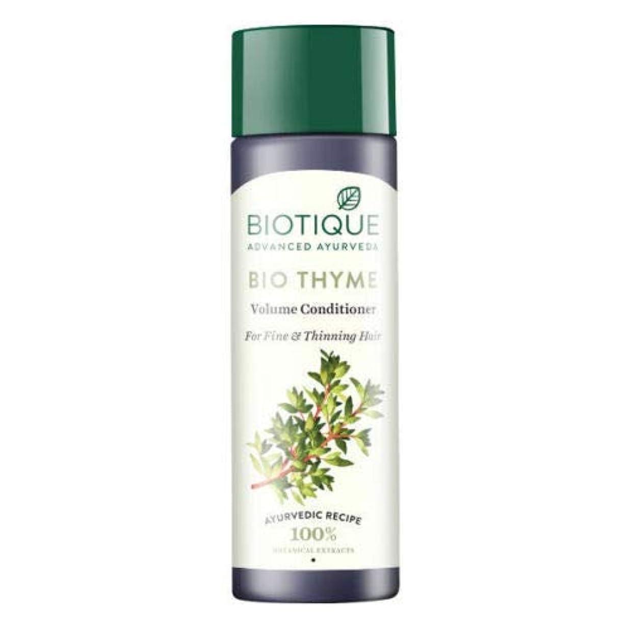パノラマ講義折Biotique Bio Thyme Fresh Sparkle Volume Conditioner 200 ml For Thinning Hair 薄くなる毛のためのBiotiqueバイオタイムの新しい輝きの量のコンディショナー