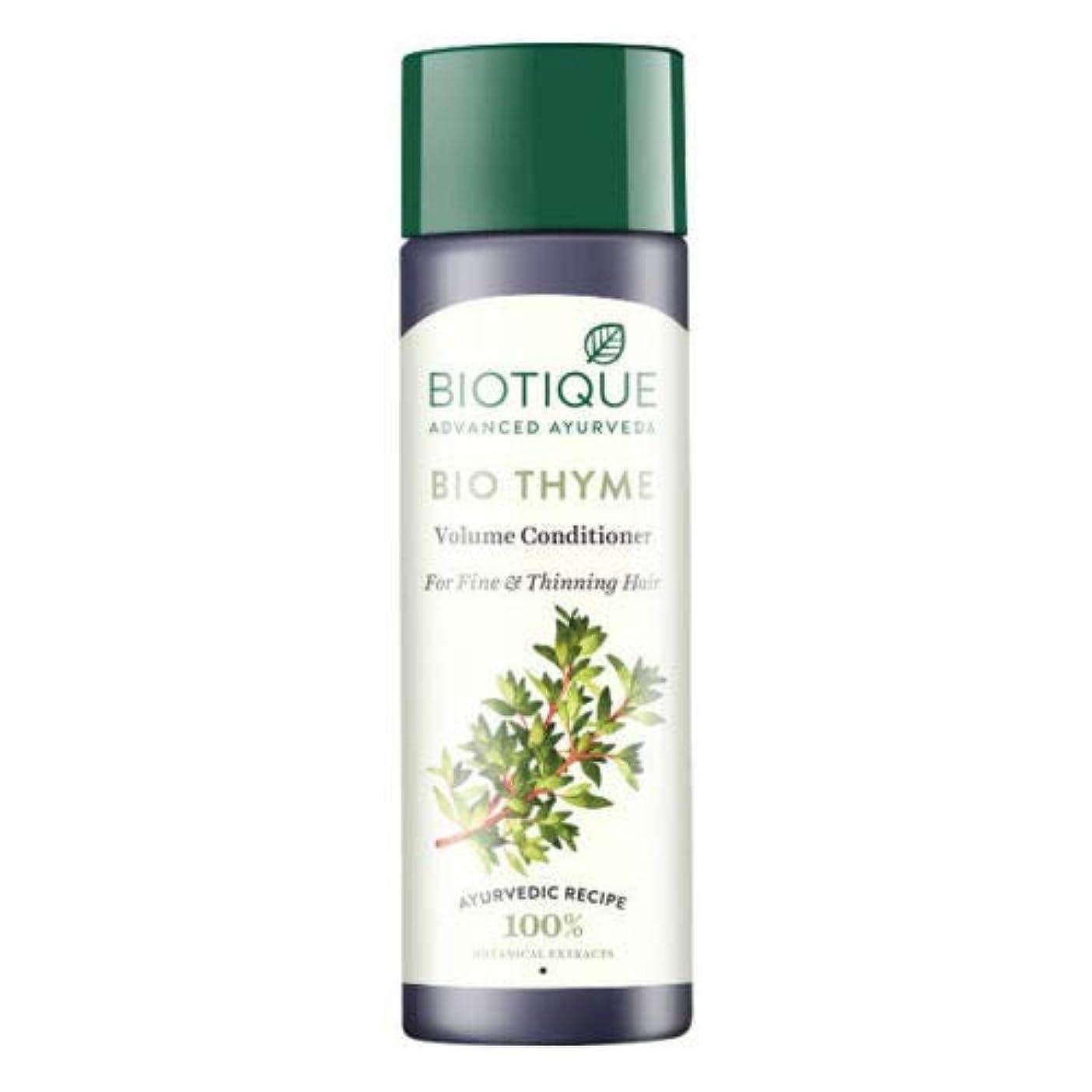 ハーフ評価可能旅客Biotique Bio Thyme Fresh Sparkle Volume Conditioner 200 ml For Thinning Hair 薄くなる毛のためのBiotiqueバイオタイムの新しい輝きの量のコンディショナー