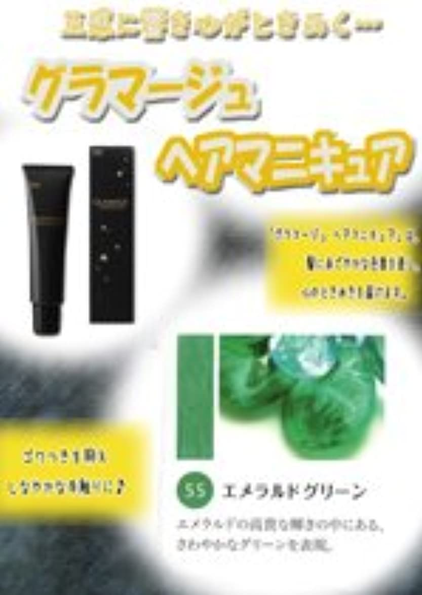 パック問題バンカーHOYU ホーユー グラマージュ ヘアマニキュア 55 エメラルドグリーン 150g 【ビビッド系】