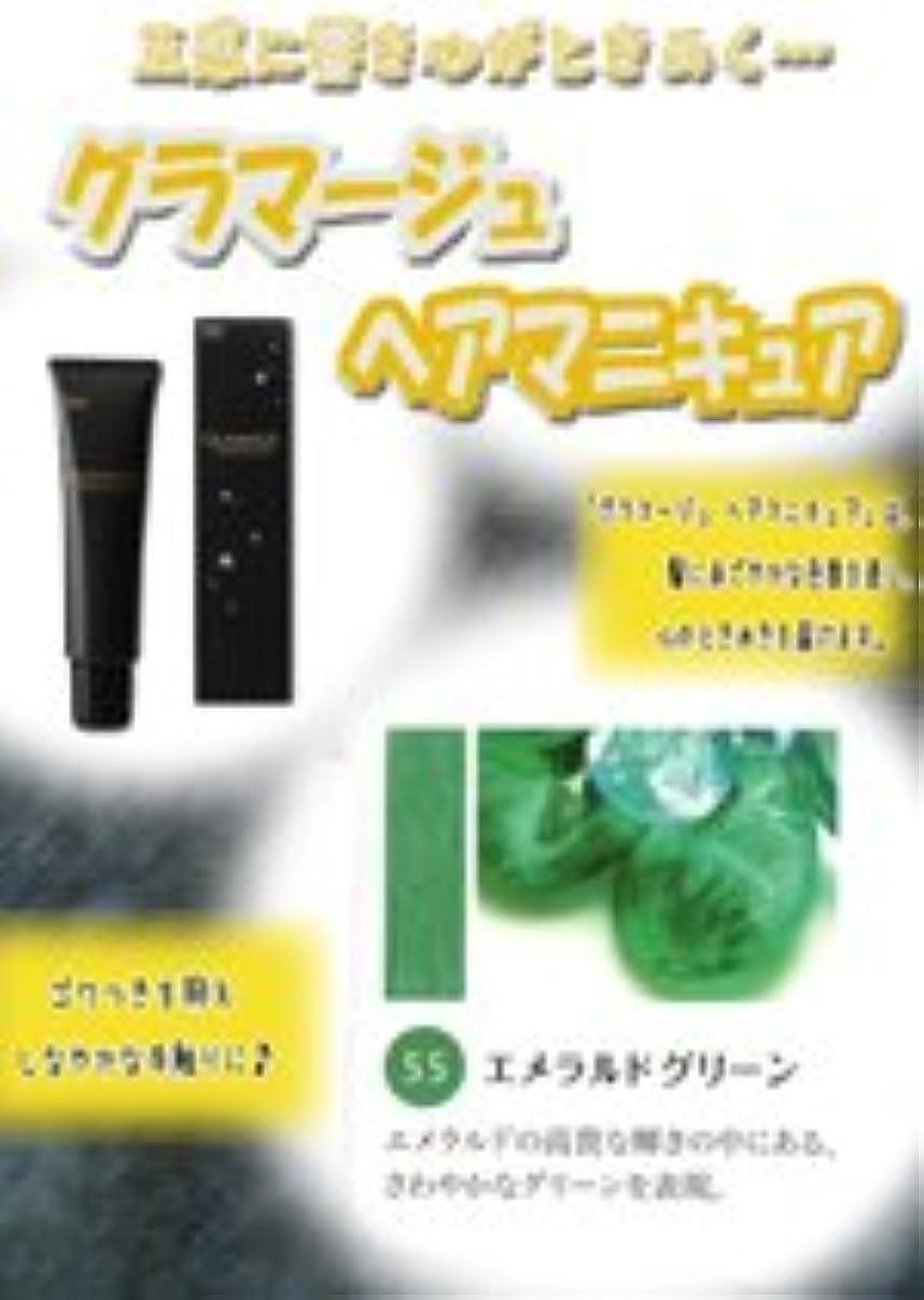 フォークケーブルカーウェイターHOYU ホーユー グラマージュ ヘアマニキュア 55 エメラルドグリーン 150g 【ビビッド系】