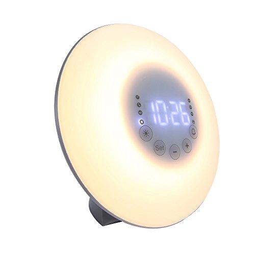 Wake Up Light ウェイクアップライト 朝日模擬光目覚まし時計 ベッドサイドランプ 多色変換 アラーム&スヌーズ機能付き