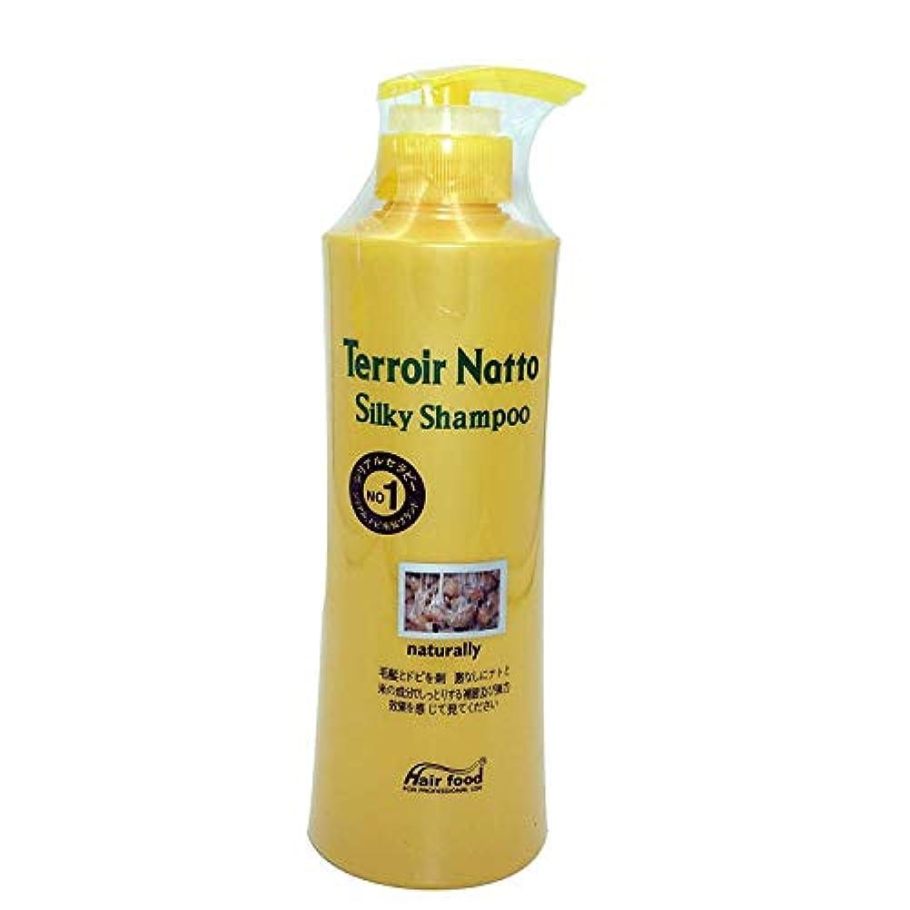 火薬火薬回るHair food テロワール納豆シルキーシャンプー500ml、乾燥薄毛とセンシティブな頭皮用 - ビタミンタンパクによる弾力ヘア (Terroir Natto Silky Shampoo 500ml for Dry Thin...