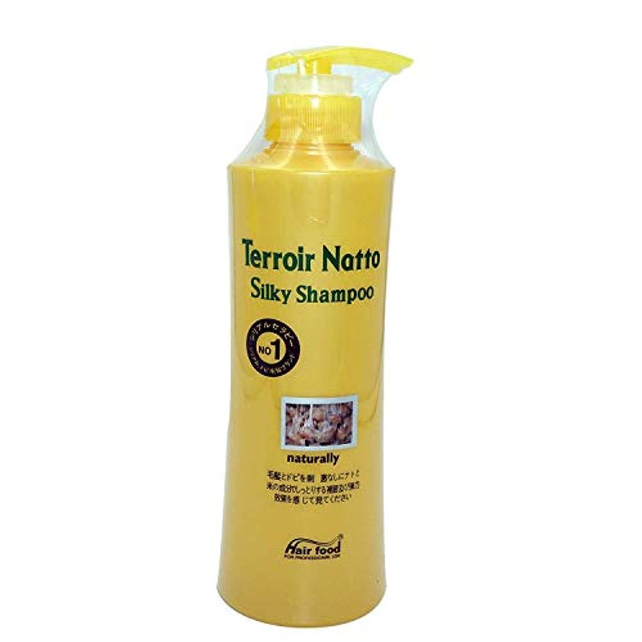 Hair food テロワール納豆シルキーシャンプー500ml、乾燥薄毛とセンシティブな頭皮用 - ビタミンタンパクによる弾力ヘア (Terroir Natto Silky Shampoo 500ml for Dry Thin...