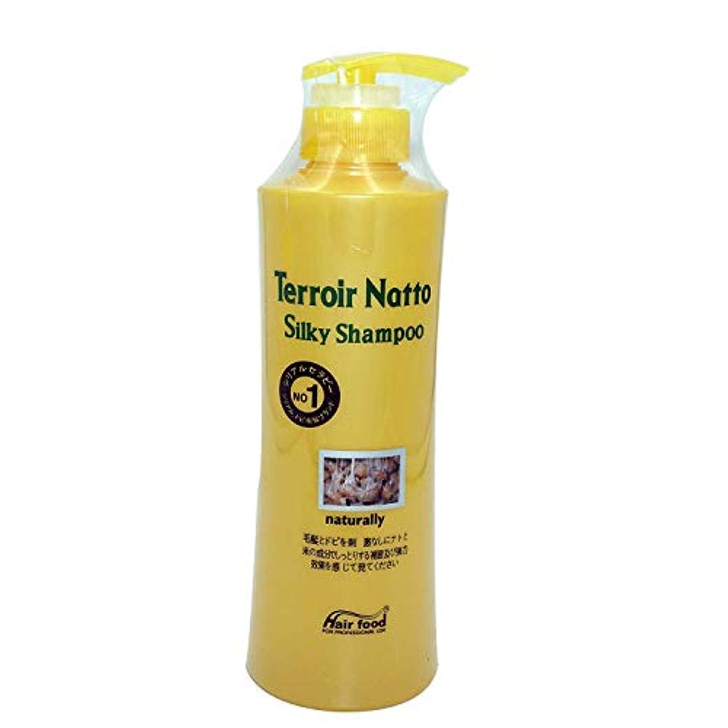 中傷バス軍団Hair food テロワール納豆シルキーシャンプー500ml、乾燥薄毛とセンシティブな頭皮用 - ビタミンタンパクによる弾力ヘア (Terroir Natto Silky Shampoo 500ml for Dry Thin...