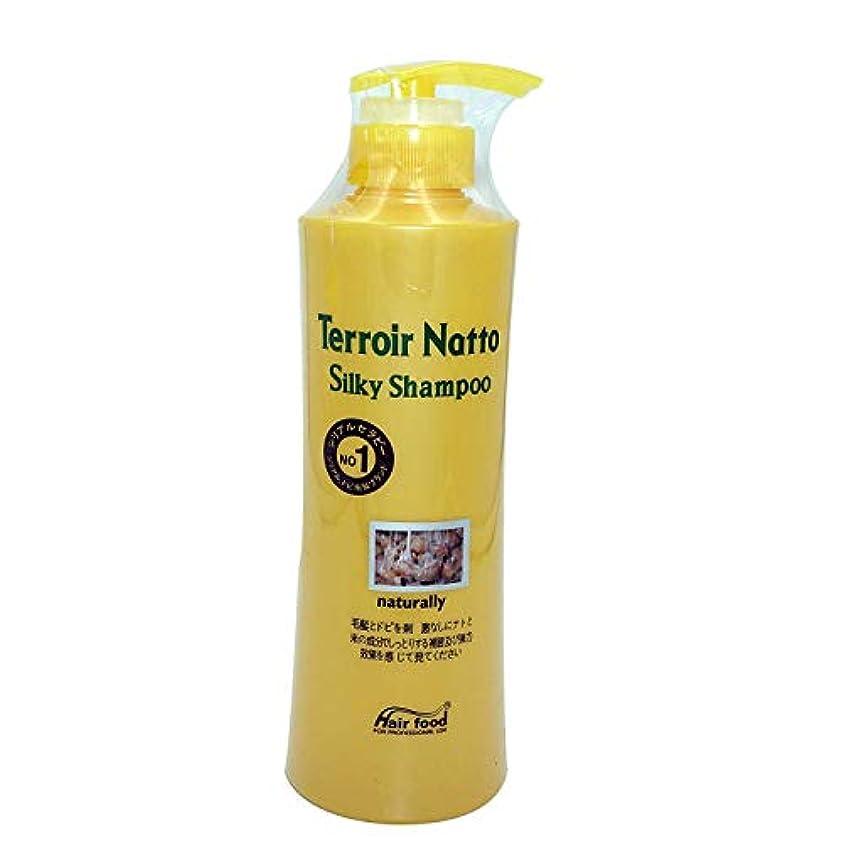 崩壊論争的補充Hair food テロワール納豆シルキーシャンプー500ml、乾燥薄毛とセンシティブな頭皮用 - ビタミンタンパクによる弾力ヘア (Terroir Natto Silky Shampoo 500ml for Dry Thin...