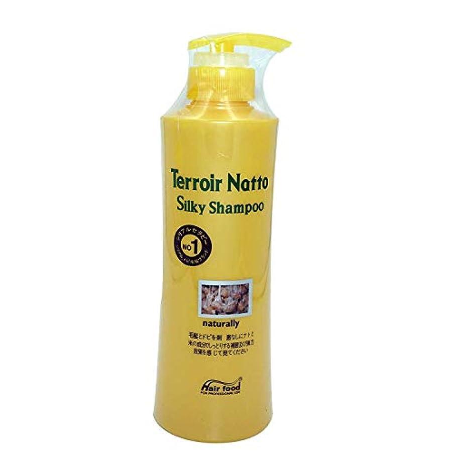 請求可能課税不完全Hair food テロワール納豆シルキーシャンプー500ml、乾燥薄毛とセンシティブな頭皮用 - ビタミンタンパクによる弾力ヘア (Terroir Natto Silky Shampoo 500ml for Dry Thin Hair and Sensitive Scalp - Elastic Hair by Vitamin Protein)[並行輸入品]