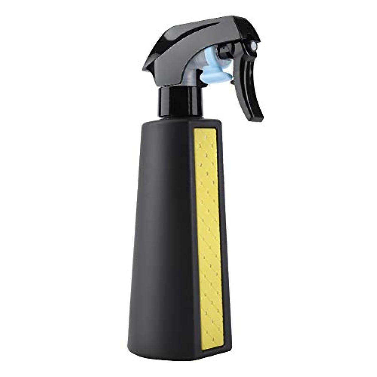 検出する虫スナックミスタースプレーボトル、300ML詰め替え可能な多目的マットヘアスプレーヤーボトル理髪理容ツール散水缶詰め替え容器(黄)