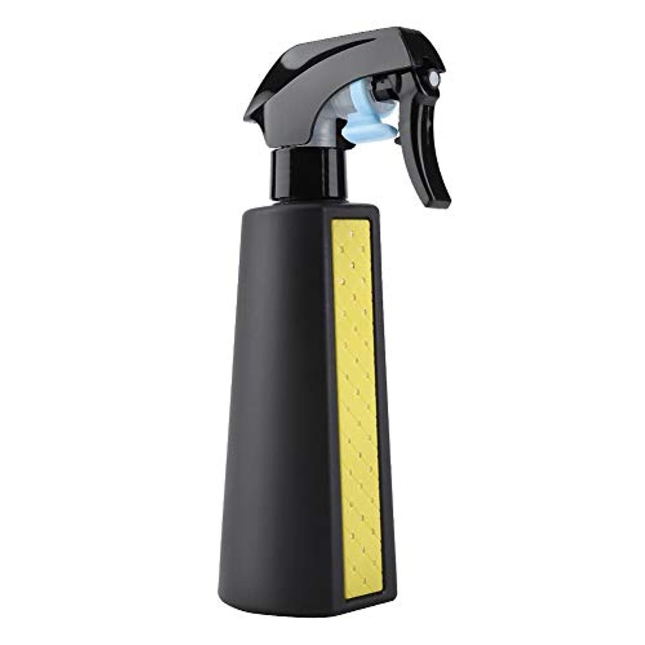 繁雑画面保持ミスタースプレーボトル、300ML詰め替え可能な多目的マットヘアスプレーヤーボトル理髪理容ツール散水缶詰め替え容器(黄)