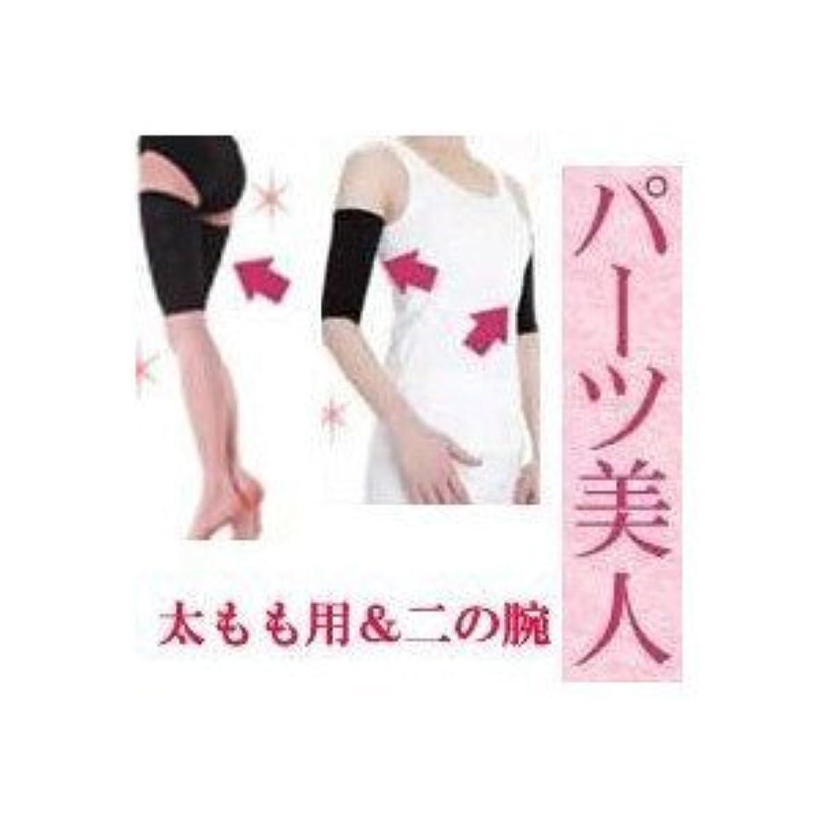 シャッターキャンベラ慣れる太もも 着圧 インナー プラチナ パーツ美人 太もも用&二の腕セット