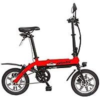【USB充電器プレゼントキャンペーン】glafitバイク GFR-01 【スタートアップキット】漕げる折りたたみ電動バイク(延長保証付き) ウメボシレッド
