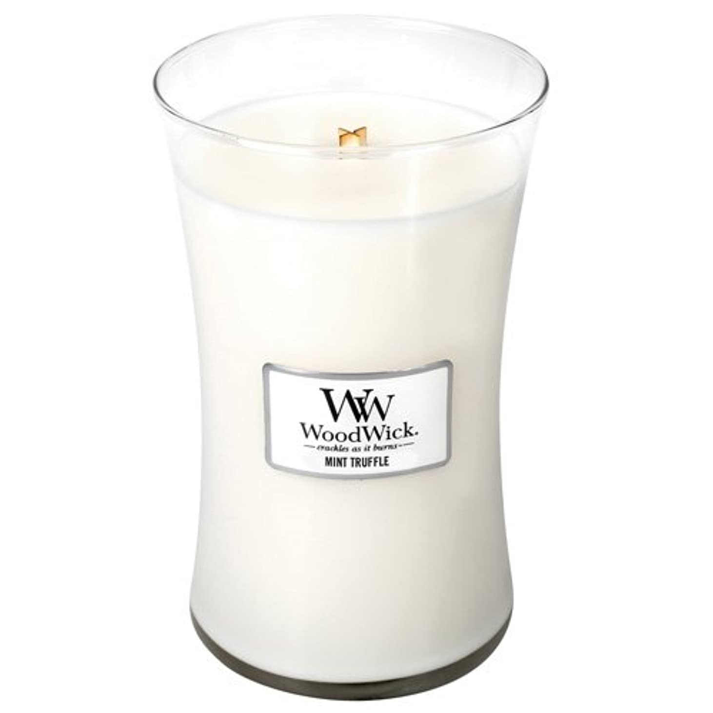 医薬セール差Woodwick Mint Truffle Large Scented Jar Candle