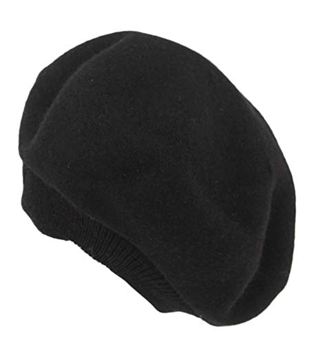 Una brezza (ウナブレッザ)ベレー帽 レディース フェルト 無地 フリーサイズ 秋冬 黒