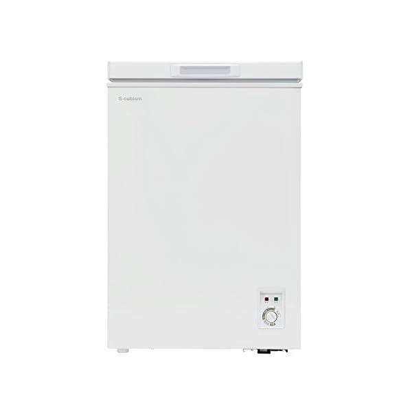 チェスト型冷凍庫 98L ホワイト 庫内灯付き...の紹介画像2