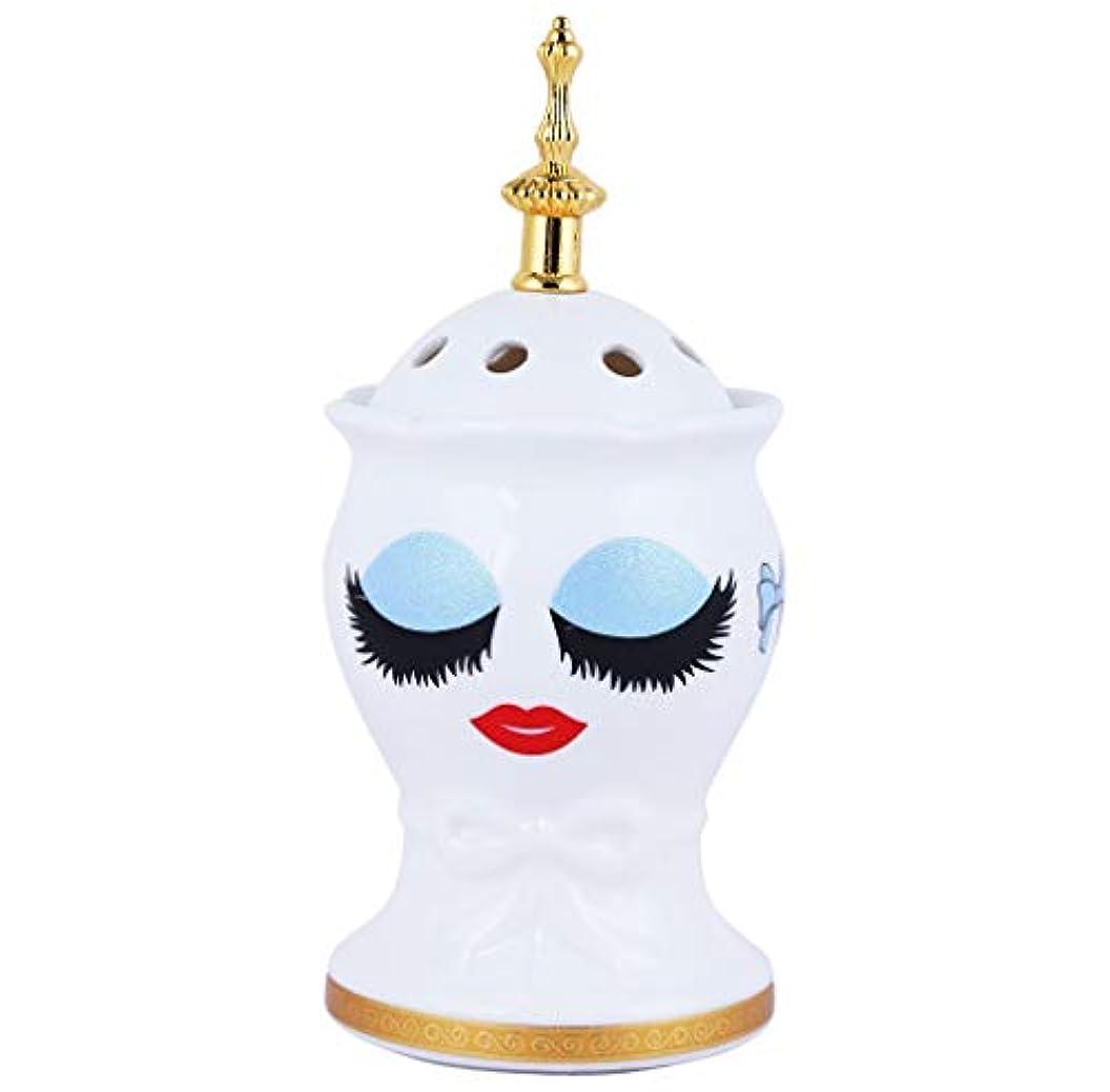 初心者酒アサートNexxa Beautiful Ceramic Incense Bakhoor/Oud Burner Frankincense Incense Holder with Attractive Eyes, Non Electric, Best for Gifting-IB-28-NE (Blue)