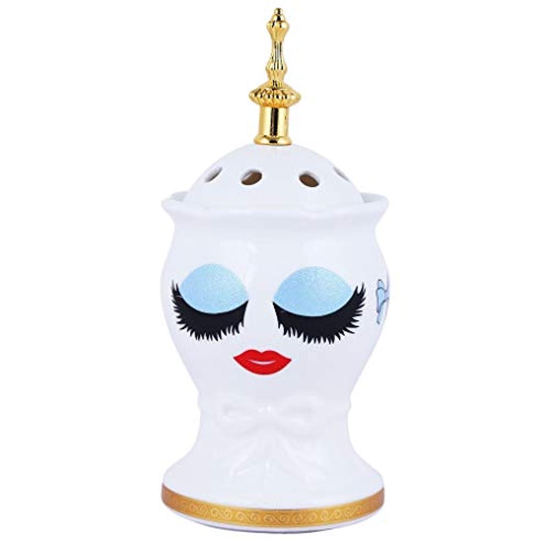 高速道路暗殺チャネルBeautiful Ceramic Incense Bakhoor/Oud Burner Frankincense Incense Holder with Attractive Eyes, Non Electric, Best...