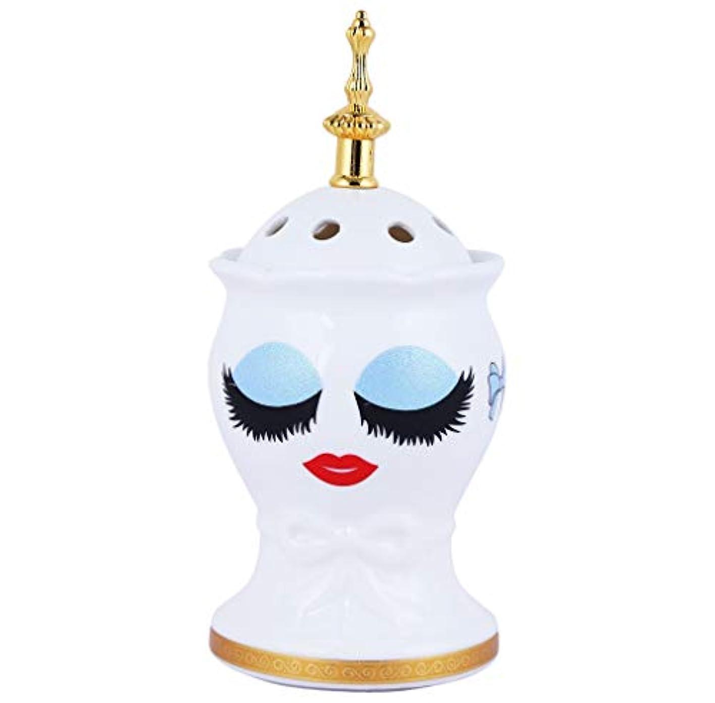 騒々しいトラフィック評価するNexxa Beautiful Ceramic Incense Bakhoor/Oud Burner Frankincense Incense Holder with Attractive Eyes, Non Electric...