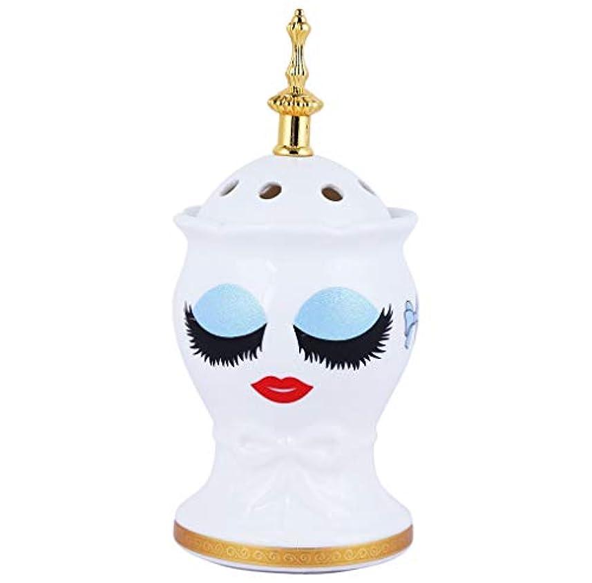 想定するワードローブ彼女Nexxa Beautiful Ceramic Incense Bakhoor/Oud Burner Frankincense Incense Holder with Attractive Eyes, Non Electric, Best for Gifting-IB-28-NE (Blue)