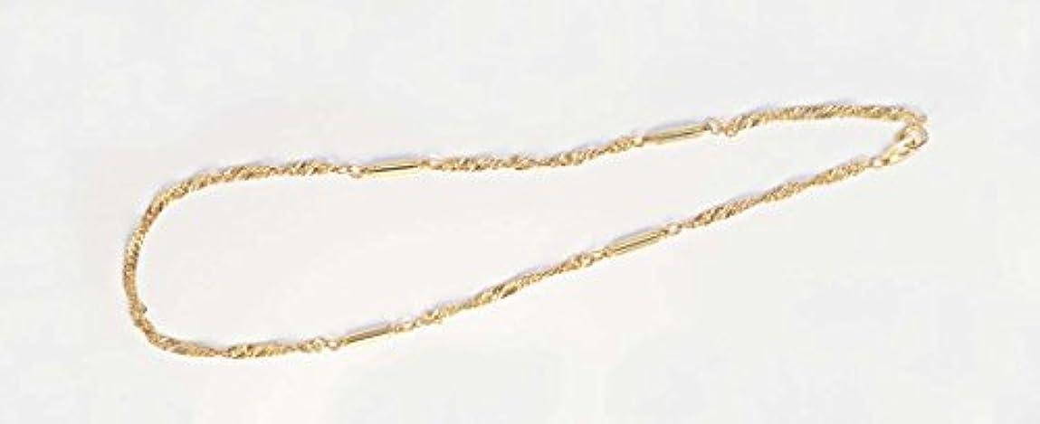 無謀アクセサリー憂鬱オシャレ磁気ネックレス スクリュウタイプ(ゴールドカラー)