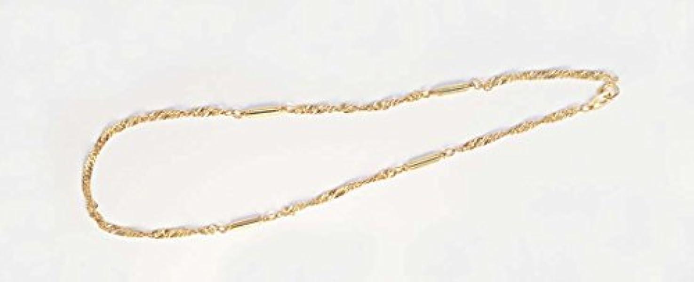 勇敢なからに変化するパキスタンオシャレ磁気ネックレス スクリュウタイプ(ゴールドカラー)