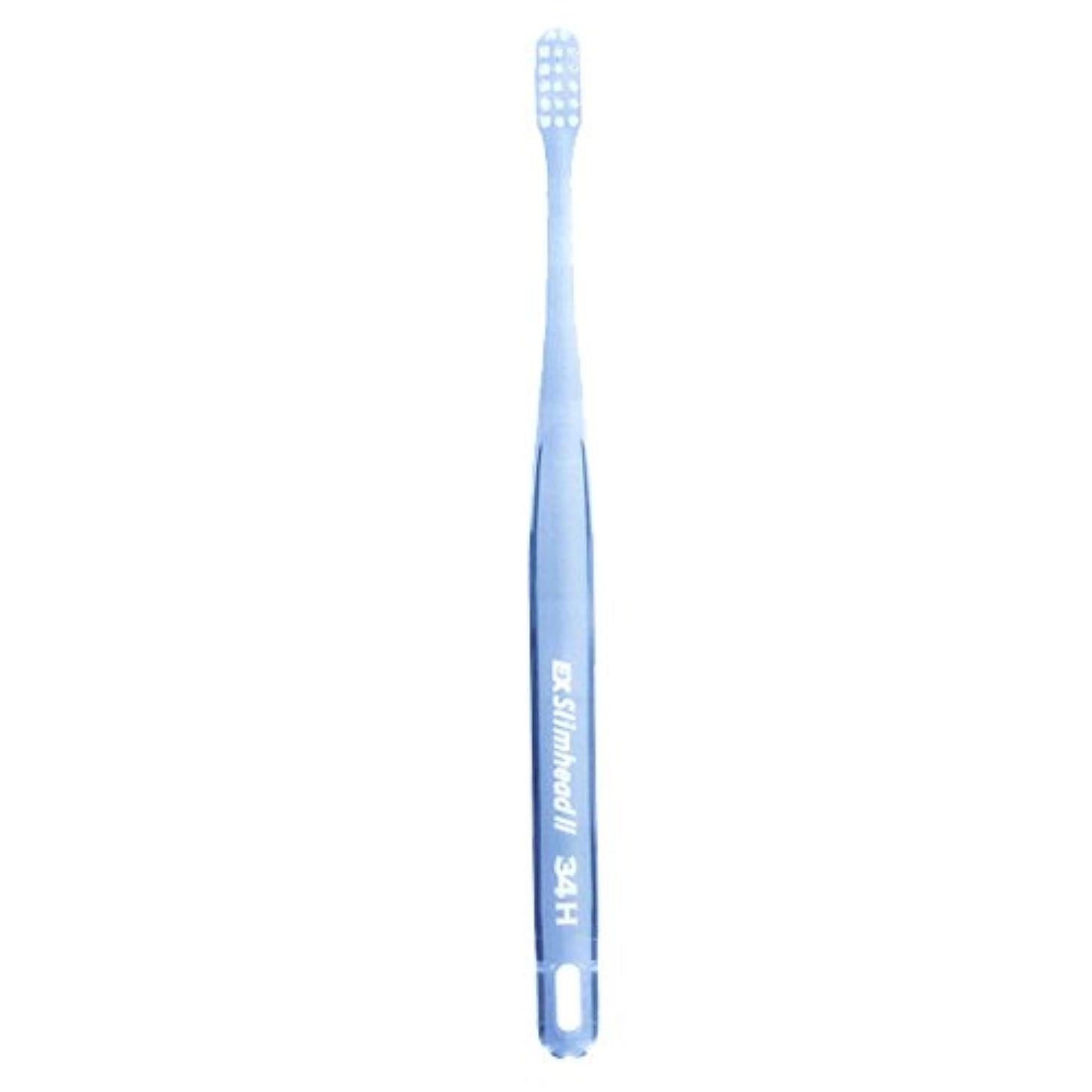 仕事に行くトイレ所得ライオン スリムヘッド2 歯ブラシ DENT . EX Slimhead2 1本 34M クリアブルー