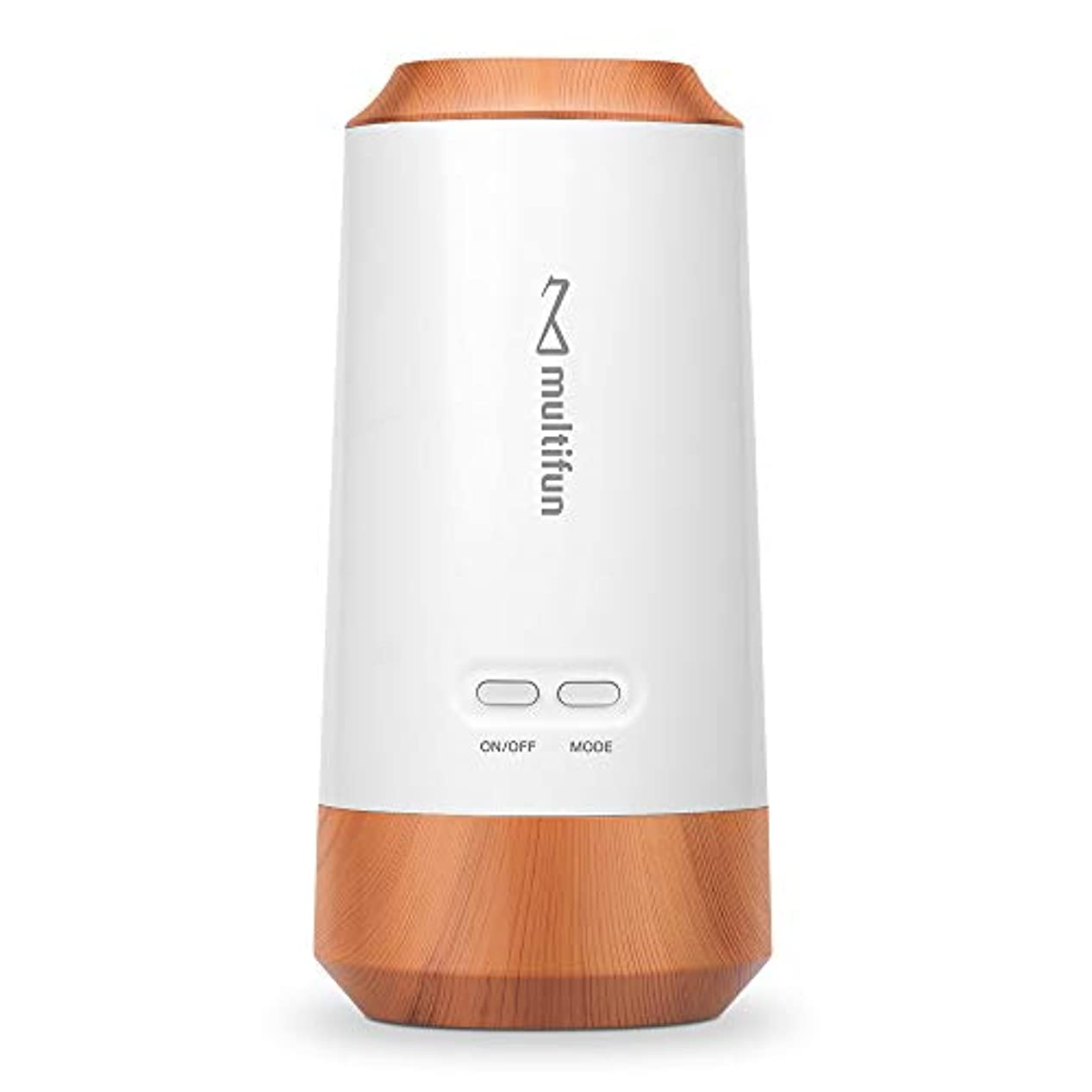 multifun アロマディフューザー ネブライザー式 気化式 車載用 コードレス 水を使わない 充電式 静音 車用 10mlアロマ320時間使える 精油瓶1個 スポイト付き 6畳~9畳まで