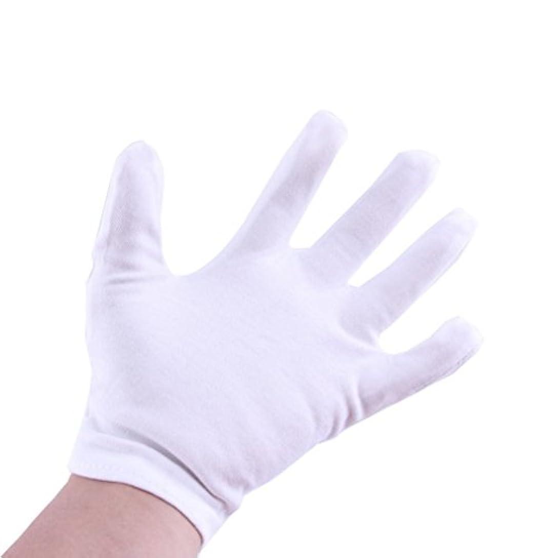 八百屋シャープ猟犬12双組 コットン手袋 / 純綿100% 作業用 手荒れ予防 白手袋