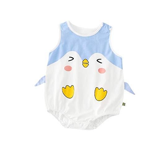 00d04d89ae9d8 エルフ ベビー (Fairy Baby) 夏 ベビー服 キャミソールロンパース ノースリーブロンパース カバーオール 肌着 肩ボダン アニマル  パジャマ コットン かわいい サラサ.