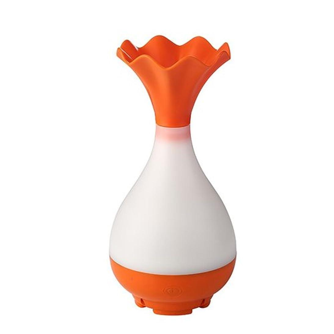 火曜日第二フェミニンMystic Moments   Orange Vase Bottle USB Aromatherapy Oil Humidifier Diffuser with LED Lighting
