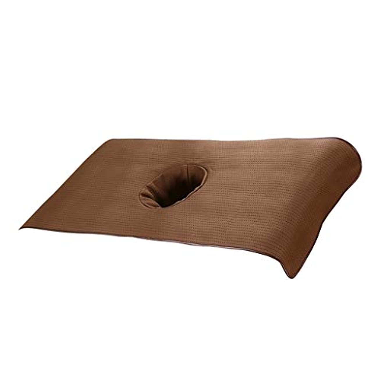 露骨な染色バレル柔らかい スパ マッサージベッドカバー ベッドカバーシート 通気性 - 褐色