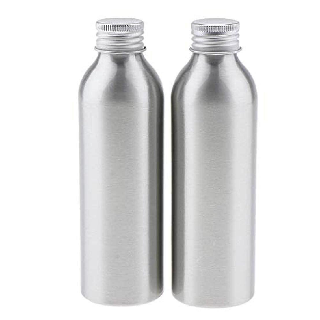 テレビ小道篭2本 アルミボトル 空容器 化粧品収納容器 ディスペンサーボトル シルバー 全5サイズ - 150ml