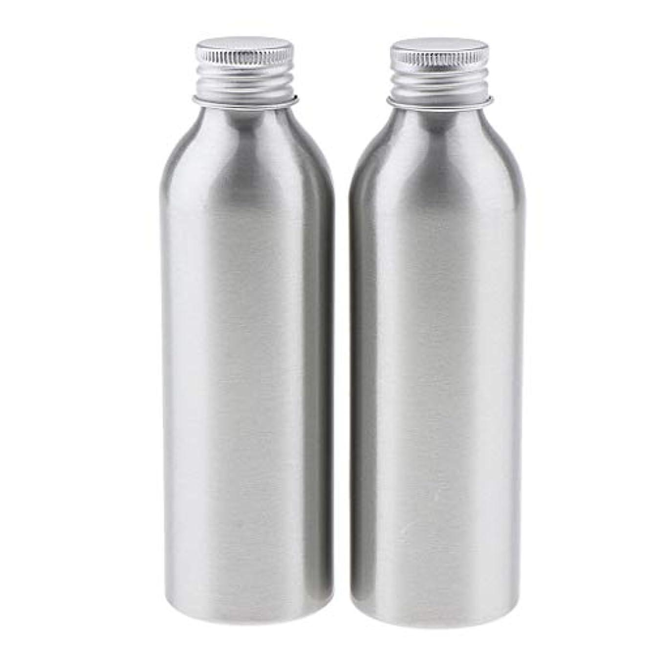 帝国マンハッタンペン2本 アルミボトル 空容器 化粧品収納容器 ディスペンサーボトル シルバー 全5サイズ - 150ml