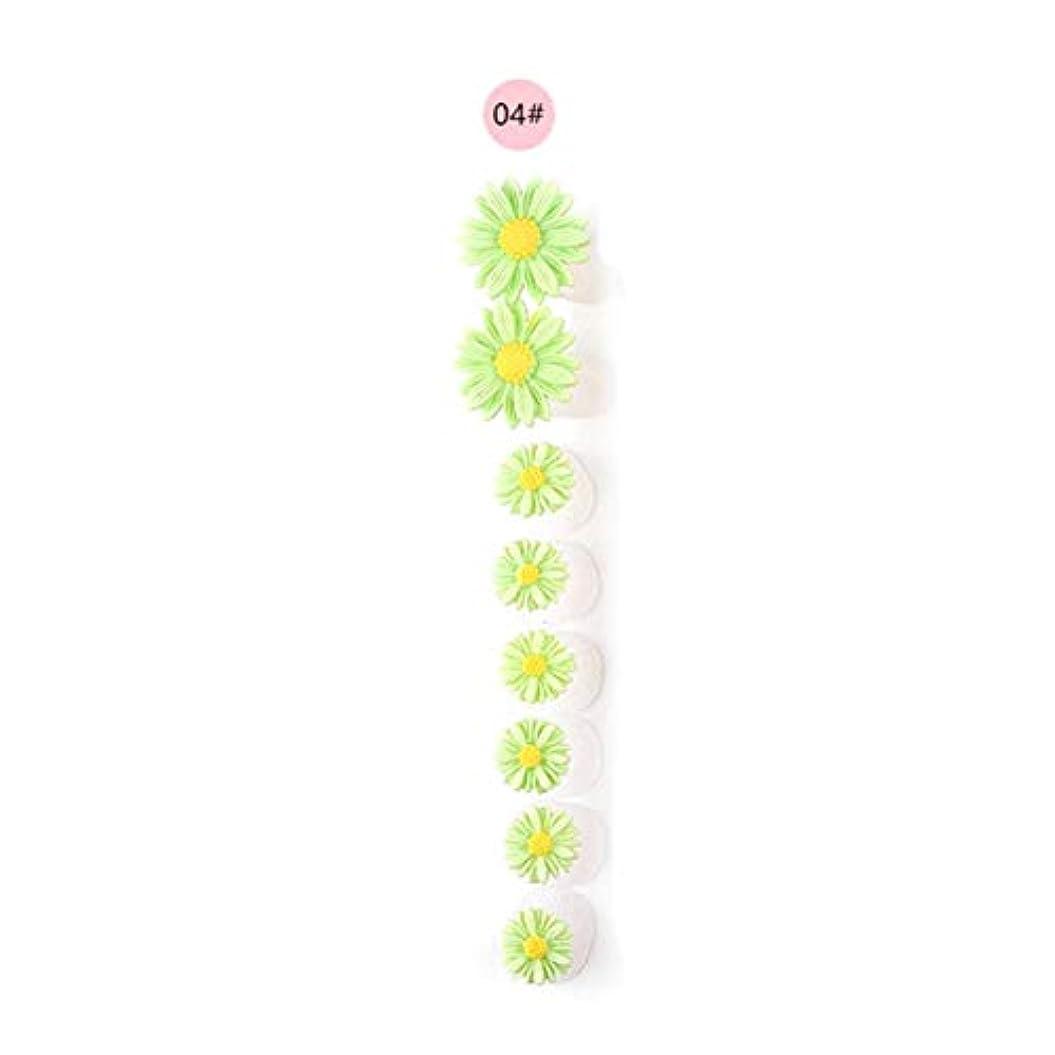 日付付き熱帯のマイナー8ピース/セットシリコンつま先セパレーター足つま先スペーサー花形ペディキュアDIYネイルアートツール-カラフル04#