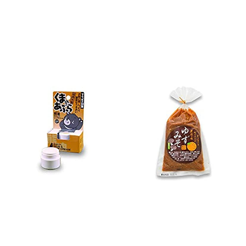 見る中傷コミットメント[2点セット] 信州木曽 くまのあぶら 熊油スキン&リップクリーム(9g)?ゆずみそ(130g)