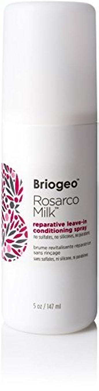 ほこりっぽい上変成器Briogeo Rosarco Milk Reparative Leave In Conditioning Spray - 5oz [並行輸入品]