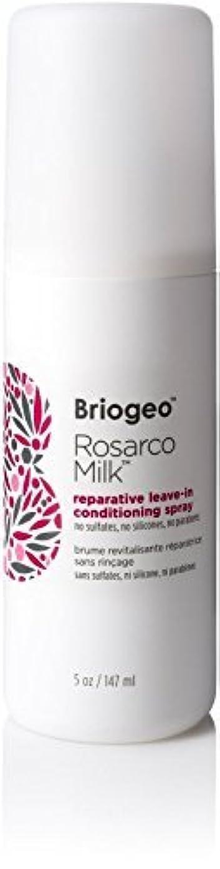 騒ぎ現代請願者Briogeo Rosarco Milk Reparative Leave In Conditioning Spray - 5oz [並行輸入品]