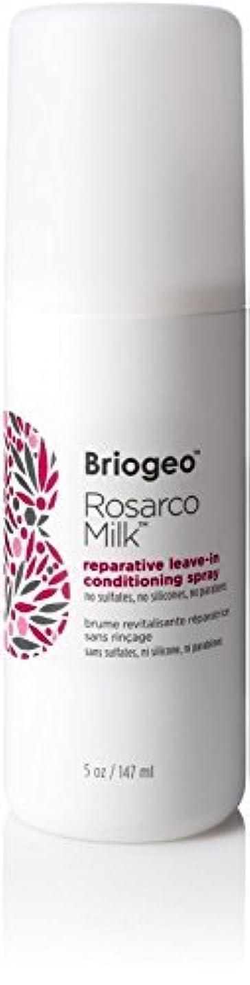 非行かなりの昼食Briogeo Rosarco Milk Reparative Leave In Conditioning Spray - 5oz [並行輸入品]