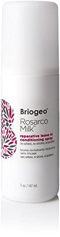 インタフェースクレタトラックBriogeo Rosarco Milk Reparative Leave In Conditioning Spray - 5oz [並行輸入品]