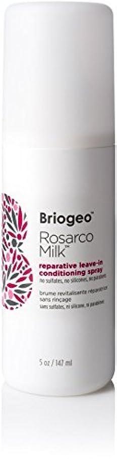 かび臭い集まる団結Briogeo Rosarco Milk Reparative Leave In Conditioning Spray - 5oz [並行輸入品]