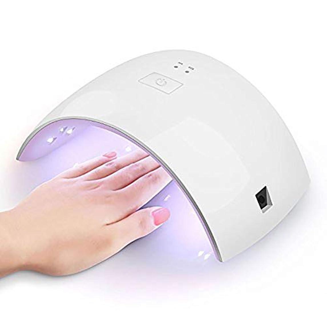地区甲虫祖父母を訪問LEDネイルドライヤー硬化ランプ、指の爪のためのUVライト36Wとセンサー付きのジェルベースの磨き、30秒60秒タイマー(ピンク)