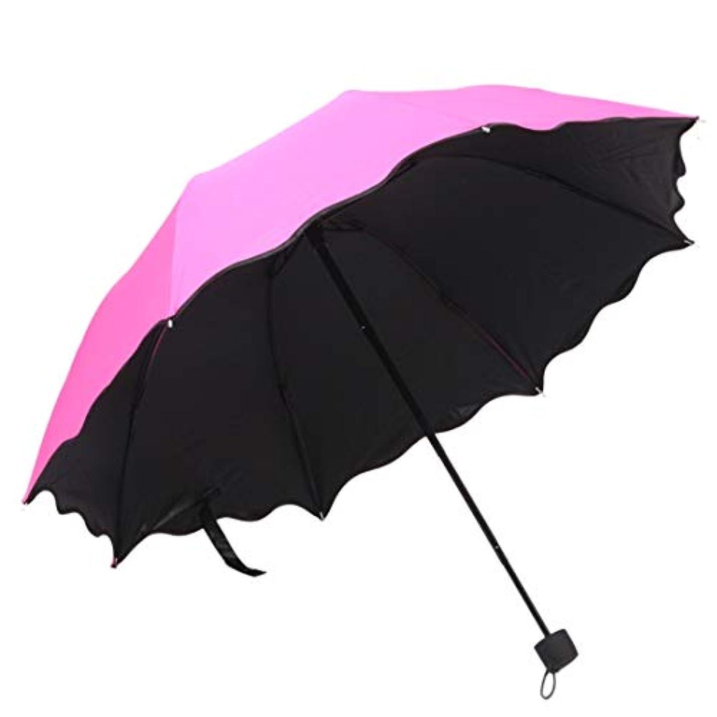の中でホームレスホラーSummerys 旅行の傘防風、黒い接着剤の抗UVコーティング、女性男性用コンパクト折りたたみ傘(複数の色が利用可能) (Color : 1)