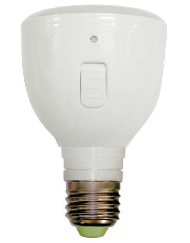 ラブロス Magic Bulb バッテリー内臓 LED電球 (外せば懐中電灯に早変わり! ・E26口金・一般電球形・白熱電球40W相当・240ルーメン・昼白色相当) MB4W-B