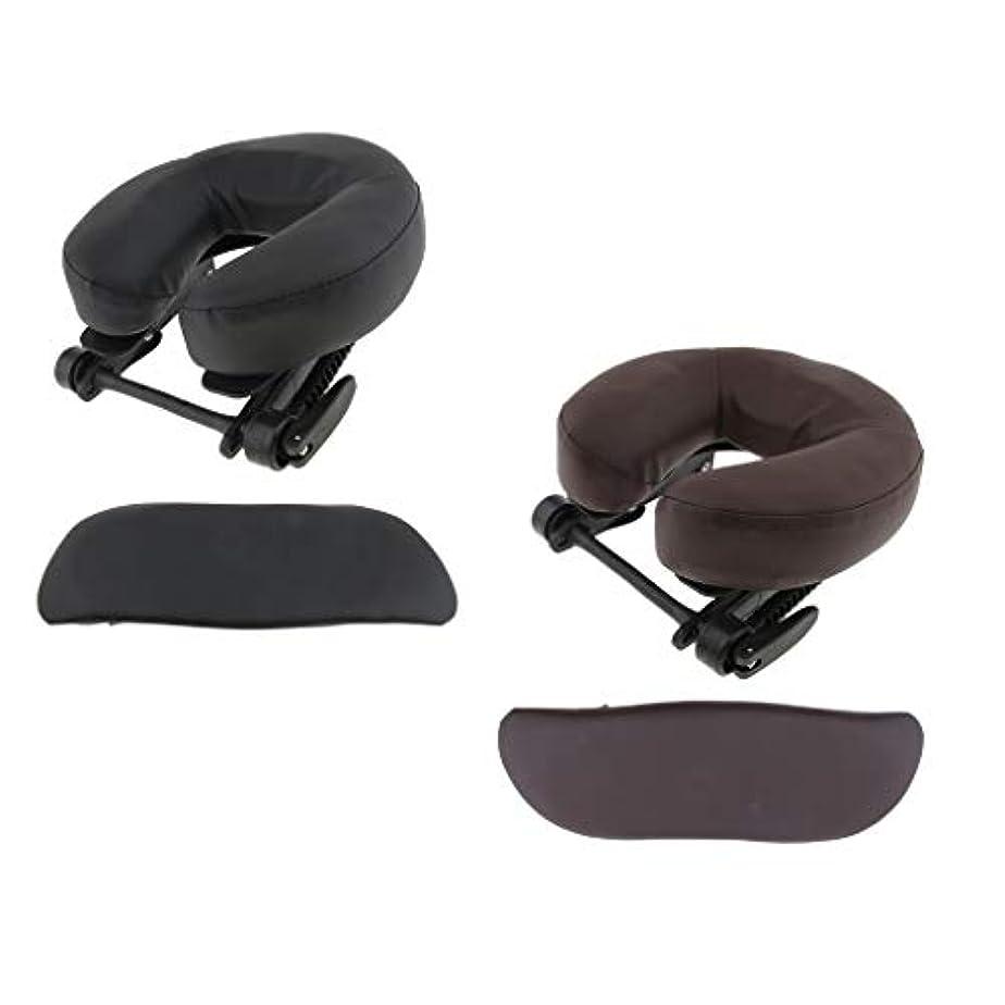 ディスカウントつかまえる力Hellery 顔枕 マッサージ用 ボディマッサージ フェイスピロー フェイスピロー 枕 フェイスクレードルクッション - ブラウン+ブラック
