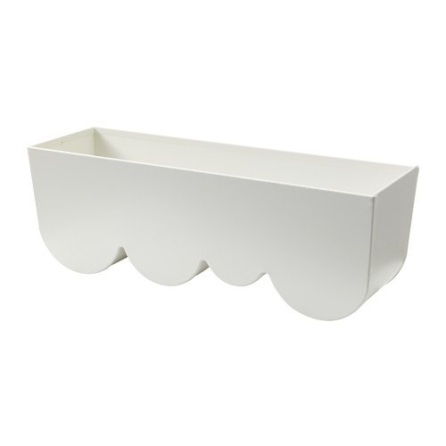 RoomClip商品情報 - IKEA AGGPLANTA プランター ホワイト 35×11cm 80289498