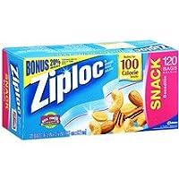 Ziplocバッグ、、お菓子120ct (パックof 12)