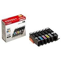 (まとめ) キヤノン Canon インクタンク BCI-351+350/6MP 6色マルチパック 標準 6552B004 1箱(6個:各色1個) 【×3セット】 ds-1573358